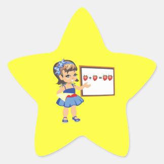 Math Stjärnformat Klistermärke