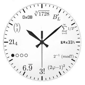 Math tar tid på v1 klockor