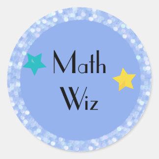 Math Wiz med stjärnor Runt Klistermärke