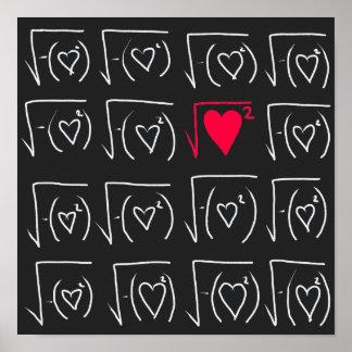 Mathgeekromantik: verklig kärlek för fynd poster