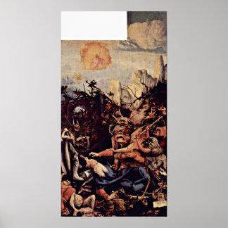 Mathis Gothart - frestelsen av St Anthony Poster