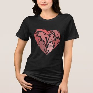Matisse inspirerade dansarehjärtaskjortan t-shirts