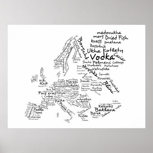 Matkarta av (stora) Europa, Affisch