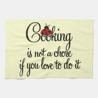 Matlagning är inte en sysslakökshandduk kökshandduk