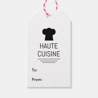 Matlagning för kock för Haute cuisine skolar Presentetikett
