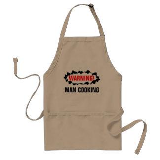 Matlagning för man för varning för galet förkläde