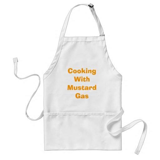 Matlagning med senapsgas förkläde