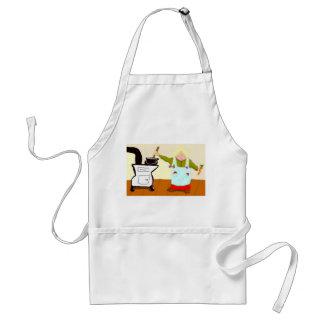Matlagning på en Woodstove Förkläde