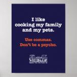 Matlagningfamilj och husdjur affisch