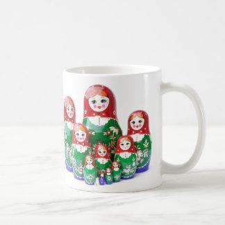 Matryoshka - матрёшка (ryska dockor) kaffemugg