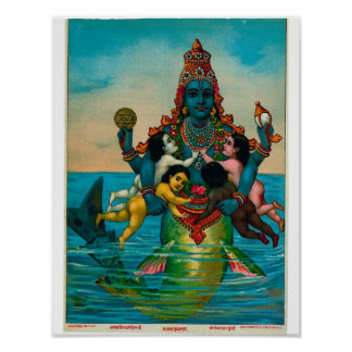 Matsya Avatar av Vishnu Poster