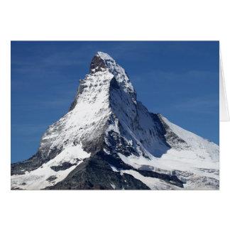 Matterhorn alperna hälsningskort