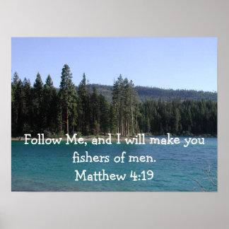 Matthew 4:19affisch poster