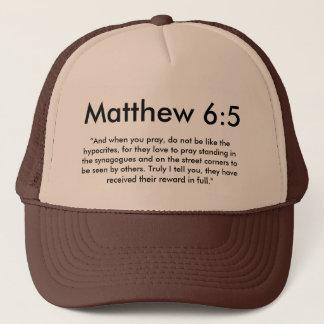 Matthew 6:5hatt truckerkeps