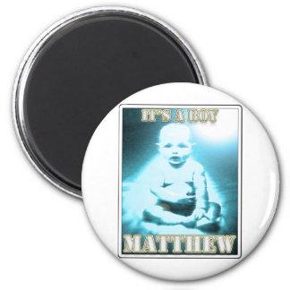 MATTHEW MAGNET RUND 5.7 CM