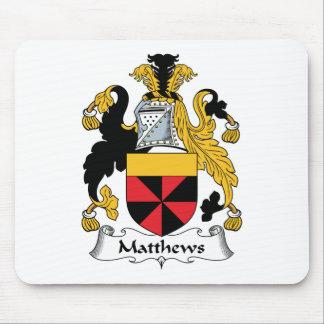 Matthews familjvapensköld musmatta