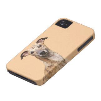 Mattt fodral för iphone 4 för Whippet hundfoto, iPhone 4 Case-Mate Skal