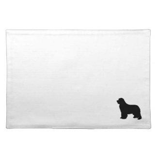 Mattt Newfoundland hundställe, svart silhouette Bordstablett