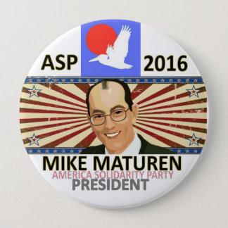 Maturen för presidenten 2016 stor knapp rund 10.2 cm