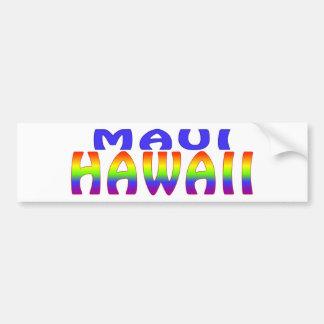 Maui Hawaii regnbågeord Bildekal