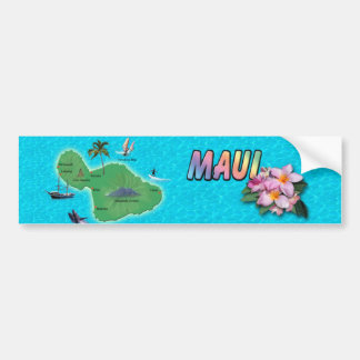 Maui karta bildekal