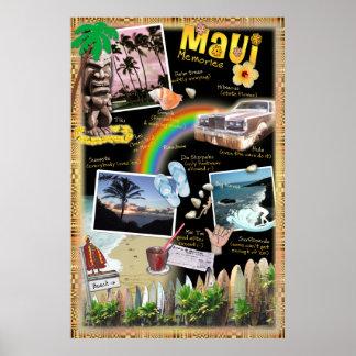 Maui minnen poster