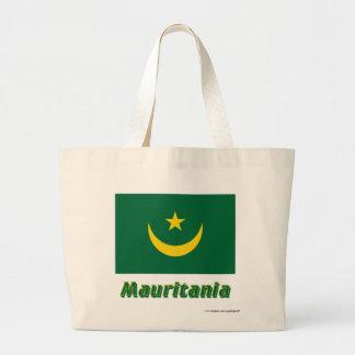 Mauretanien flagga med namn tote bags