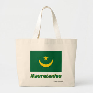 Mauretanien Flagge mit Namen Tote Bag