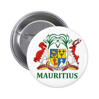 mauritius - emblem/flagga/vapensköld/symbol standard knapp rund 5.7 cm