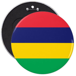 Mauritius flagga jumbo knapp rund 15.2 cm
