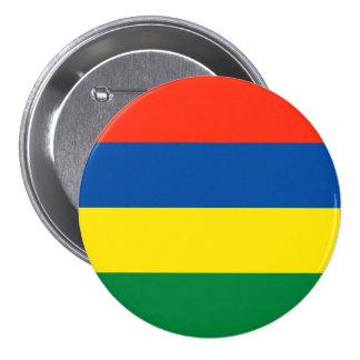 Mauritius flagga mellanstor knapp rund 7.6 cm