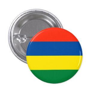 Mauritius flagga mini knapp rund 3.2 cm