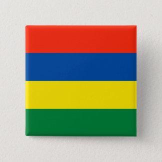 Mauritius flagga standard kanpp fyrkantig 5.1 cm