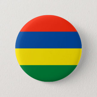 Mauritius flagga standard knapp rund 5.7 cm