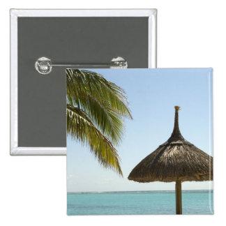 Mauritius. Idyllisk strandplats med paraplyet Standard Kanpp Fyrkantig 5.1 Cm