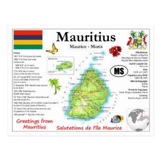Mauritius kartavykort vykort