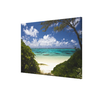 Mauritius östliga Mauritius, BelleMare som är Canvastryck