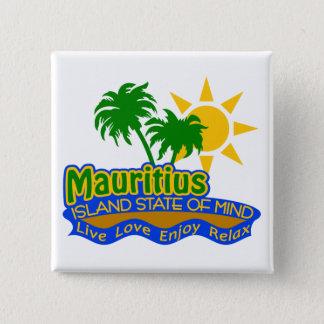 Mauritius som är statlig av Mind, knäppas Standard Kanpp Fyrkantig 5.1 Cm
