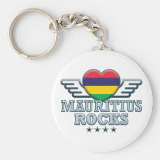 Mauritius stenar v2 rund nyckelring