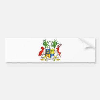 Mauritius vapensköld bildekal