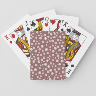 Mauve solrosklassiker som leker kort spelkort