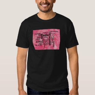 Mayan Aztec mörk för ordmolnBen Acatl T-tröja Tee Shirts