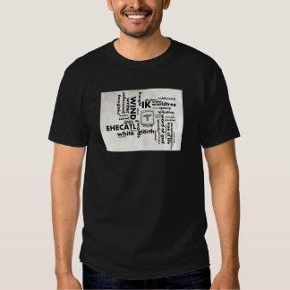 Mayan Aztec mörk för ordmolnIk Ehecatl T-tröja Tee