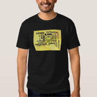 Mayan Aztec mörk för ordmolnKan Cuetzpalin T-tröja Tshirts