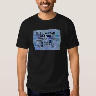 Mayan Aztec mörk för ordmolnManik Mazatl T-tröja Tee
