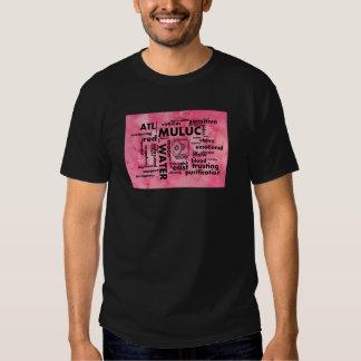 Mayan Aztec mörk för ordmolnMuluc Atl T-tröja T-shirt