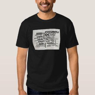 Mayan Aztec mörk för ordmolnOc Itzcuintli T-tröja Tröja