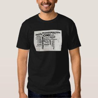 Mayan Aztec mörk för T-tröja för ordmoln Cimi Tshirts