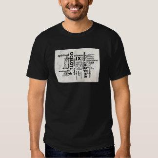 Mayan Aztec mörk för T-tröja för ordmoln Ix T Shirts