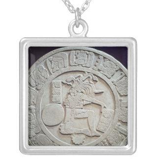 Mayan bolldomstolmarkör, från Chinkultic Silverpläterat Halsband